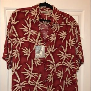 Other - Red bamboo Hawaiian Shirt